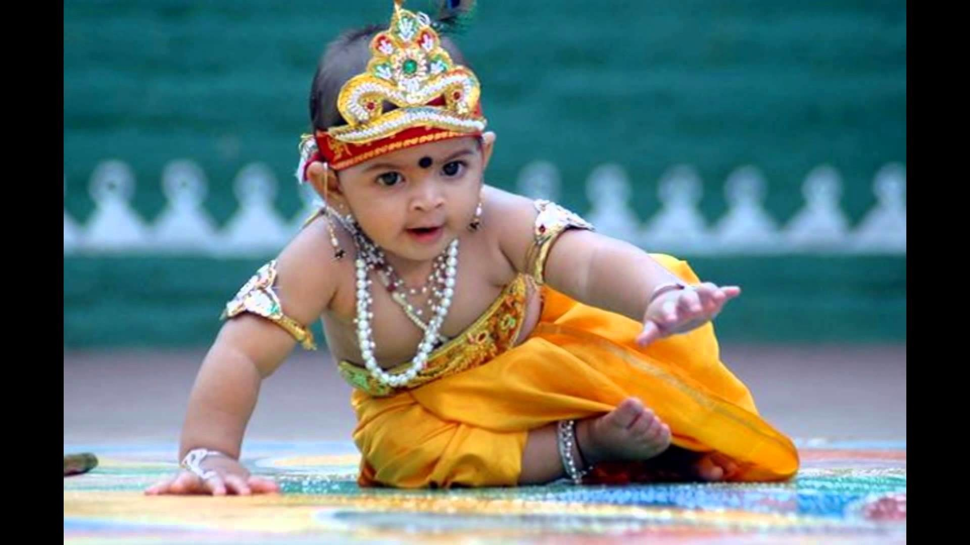 Try These Cute Baby Krishna Hd Wallpaper Download {Mahindra