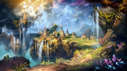 fantasy landscape background hd desktop backgrounds amazing android windows ipad iphone wallpapertag mobile