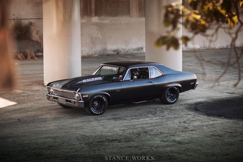 Hd Flat Black Muscle Car Wallpapers Chevy Nova Wallpaper 183 ① Wallpapertag