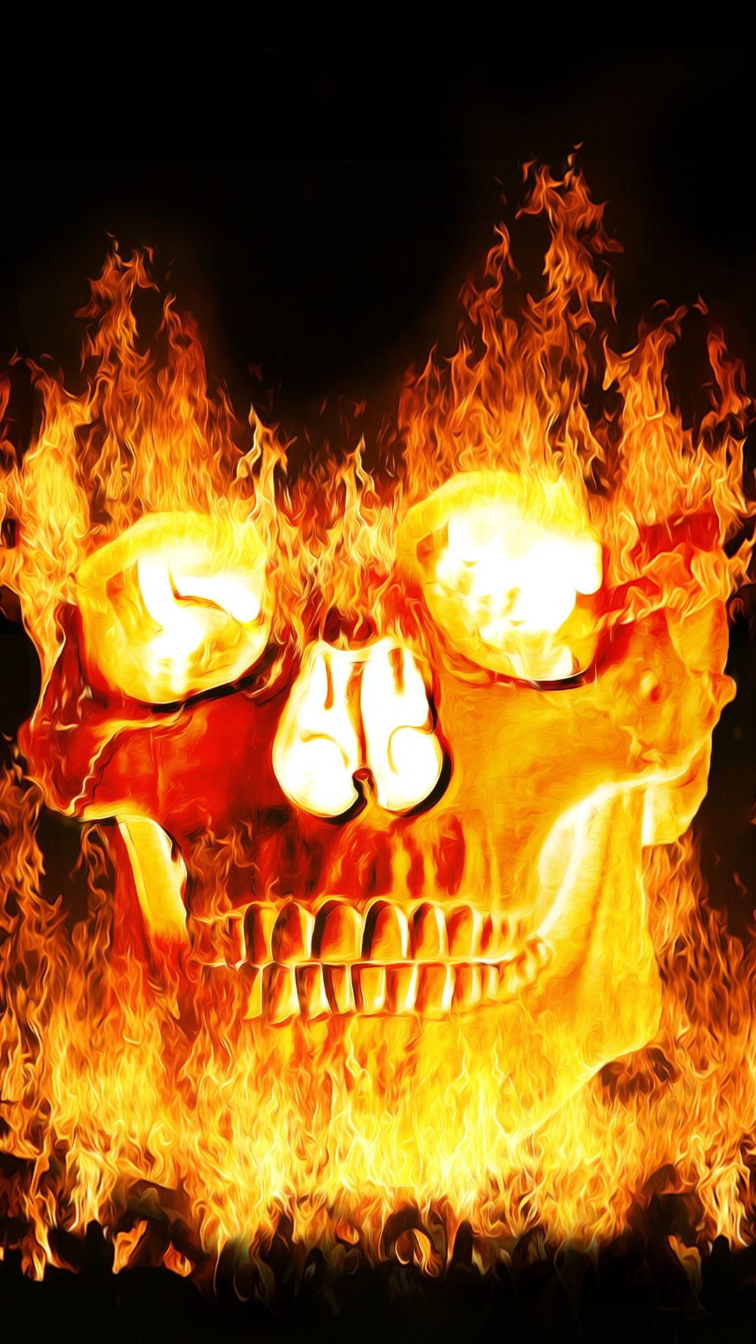 Cool Iphone X Wallpapers Live Skulls On Fire Wallpaper 183 ① Wallpapertag