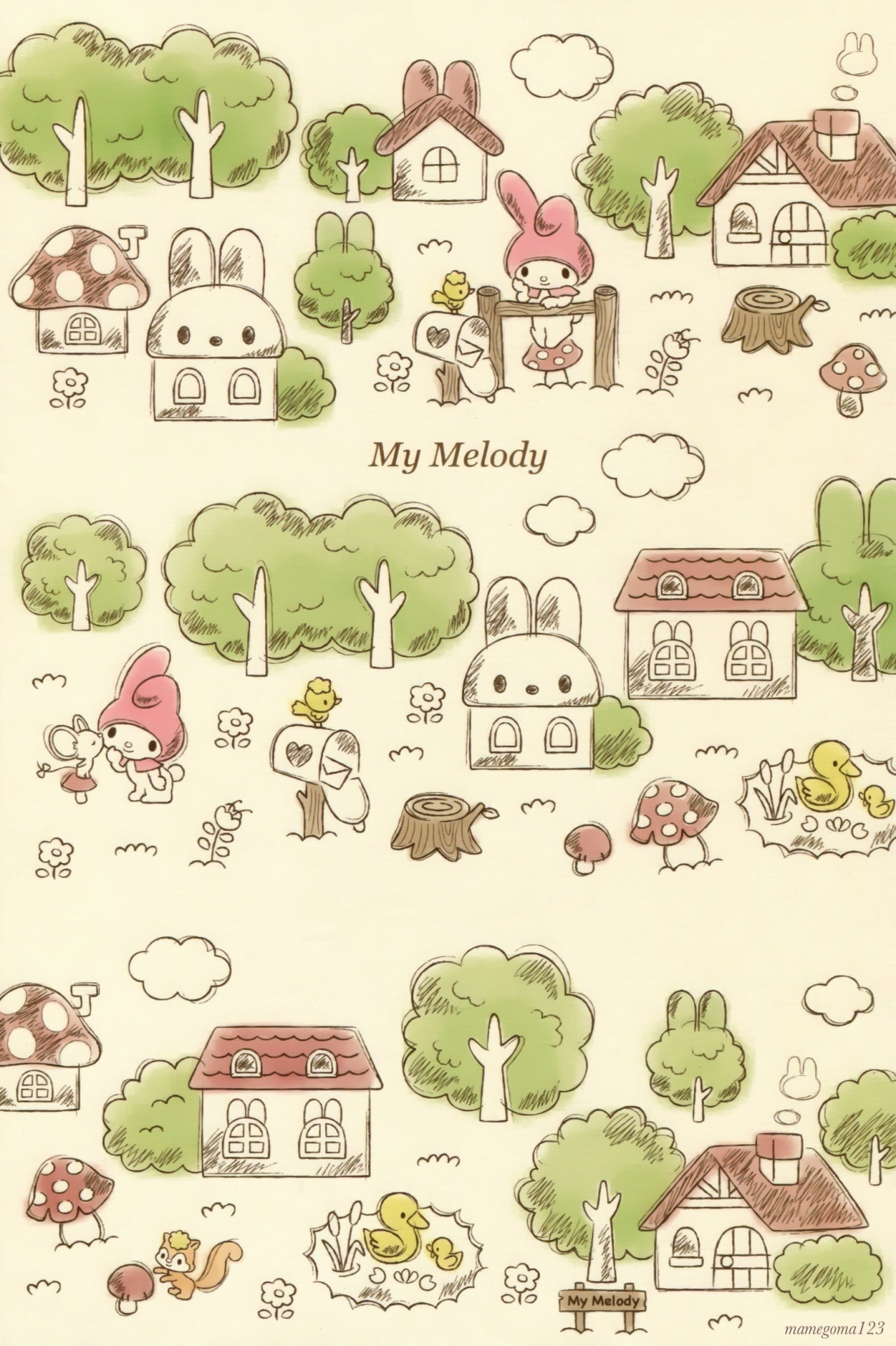 Emoticons Cute Wallpaper My Melody Wallpaper 183 ① Wallpapertag