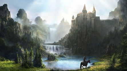 fantasy castle mountain hd castles wallpapers desktop laptop mobile awesome