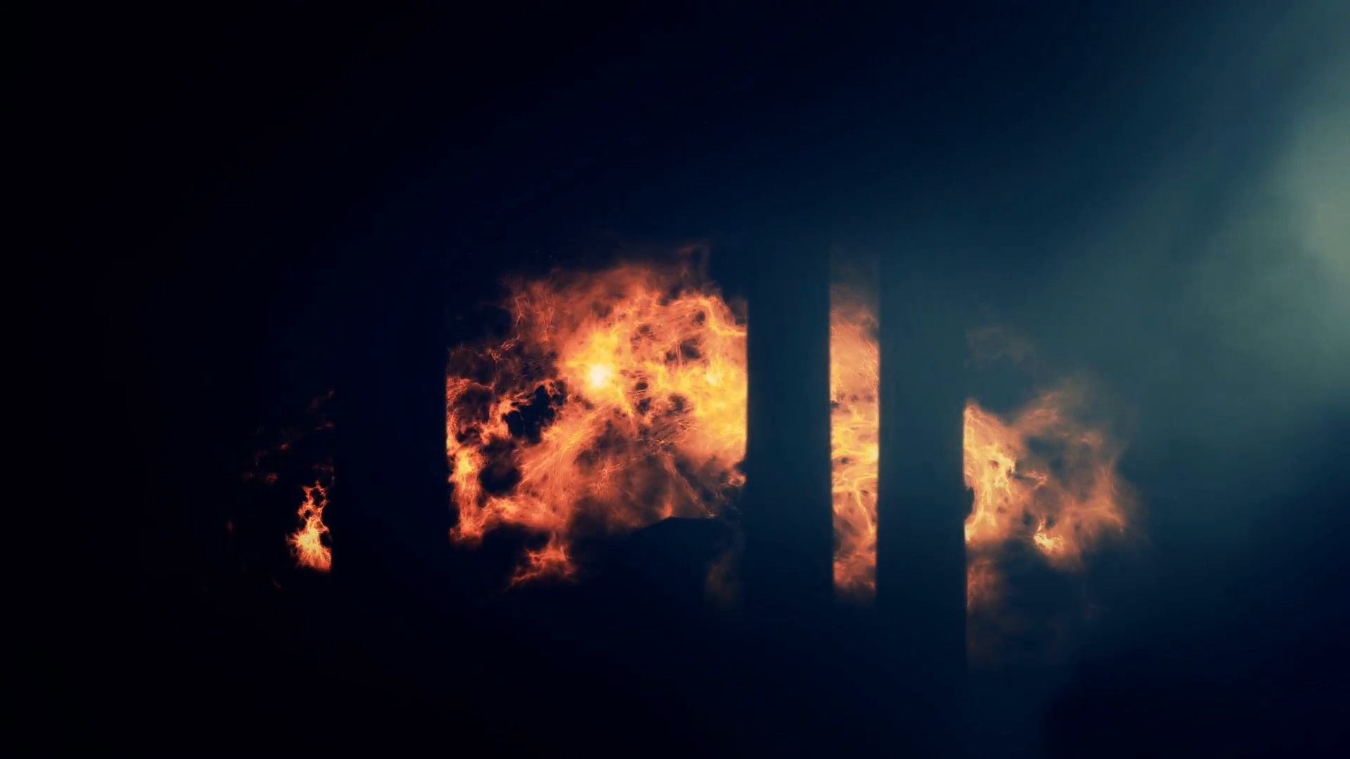 Burning City Background