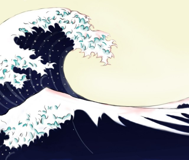 X Download Wallpaper A C B Back Blue Ocean Waves Japanese Artwork The Great Wave Off Kanagawa