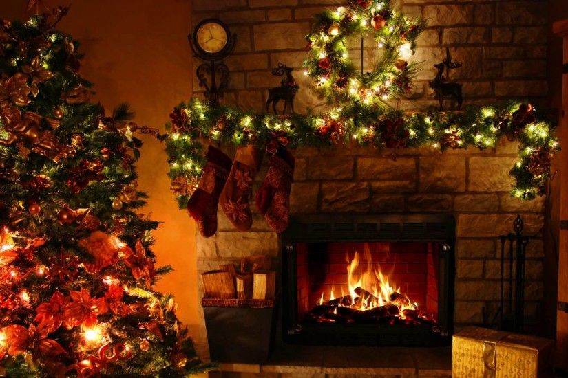 Free Animated Fireplace Wallpaper Christmas Fireplace Wallpaper 183 ① Wallpapertag