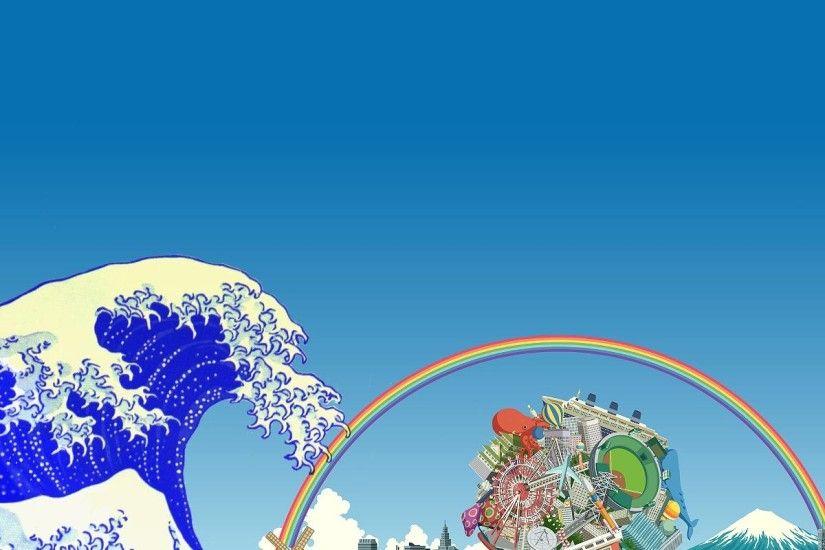 Hd Wallpaper Mario The Great Wave Off Kanagawa Wallpaper 183 ① Wallpapertag