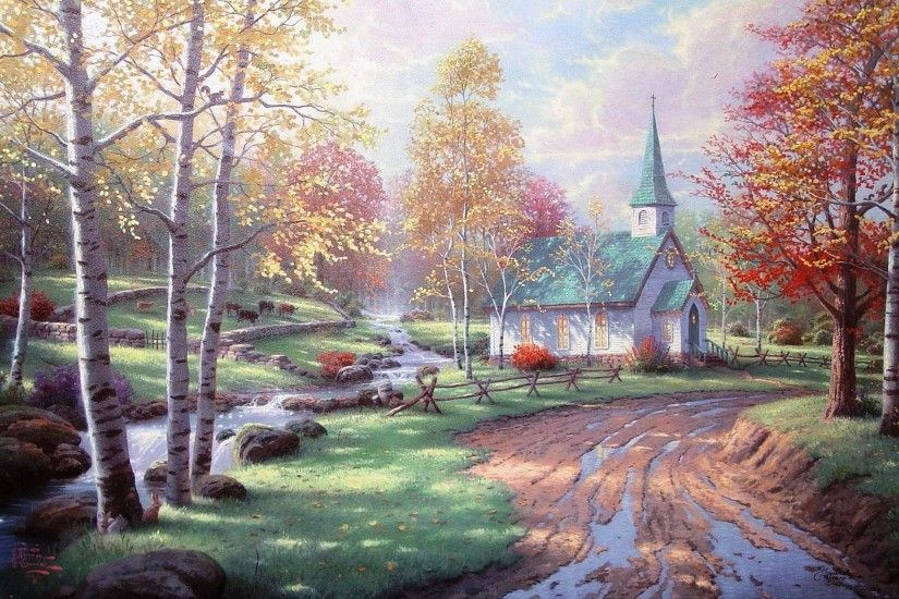 Thomas Kinkade Fall Wallpaper Thomas Kinkade Christmas Backgrounds 183 ① Wallpapertag