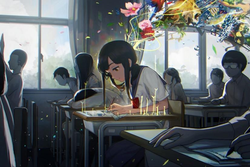 Anime School background  Download free cool backgrounds