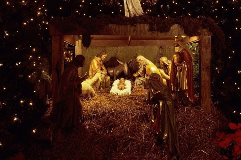 free nativity scene wallpapers