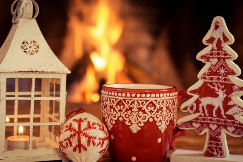 Lanterns Wallpaper Hd Christmas Fireplace Background 183 ① Wallpapertag