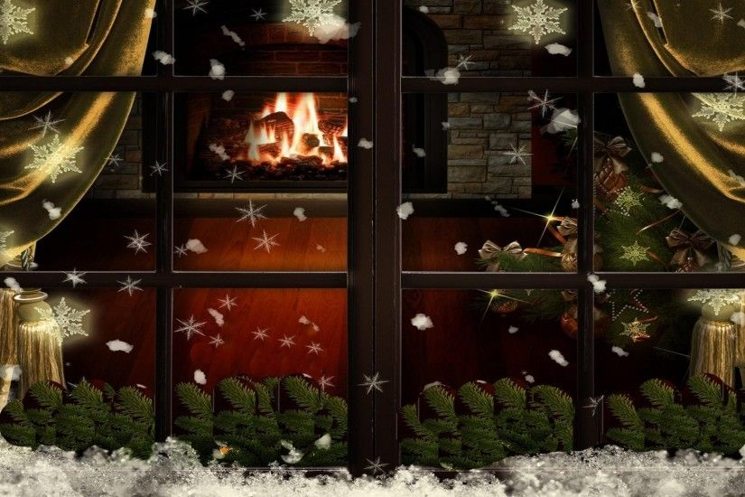 Animated Wallpapers For Pc Desktop Free Download Christmas Fireplace Wallpaper 183 ① Wallpapertag