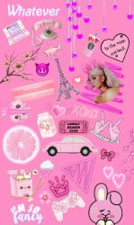 freetoedit 💗 #tumblr #pink #background #wallpaper Girly Collage Wallpaper Iphone 1024x1710 Download HD Wallpaper WallpaperTip