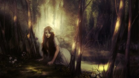 Hd Wallpaper Dark Fantasy With High resolution Pixel Girl In The Forest Fantasy 1920x1080 Download HD Wallpaper WallpaperTip