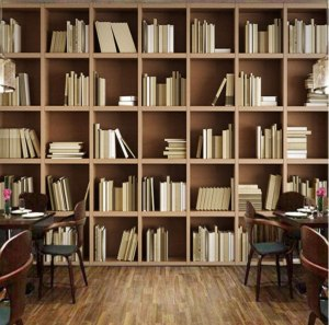 library bookcase study mural bibliotheque living bookshelf shelves bookshelves shelf deco peint papier bvm decoration wallpapertip salon livre bedroom encyclopedia