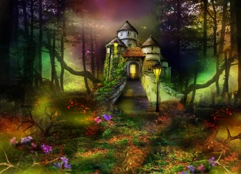 680395 Title Fantasy Castle In Enchanted Forest Fantasy Forest Background With Castle 2500x1800 Download HD Wallpaper WallpaperTip