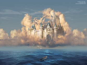 Castle In The Sky Or Clouds Of Shattered Dreams Walls Magical Castle In The Clouds 1280x960 Download HD Wallpaper WallpaperTip