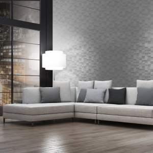 living grey textured metallic pattern creation motif square wallpapertip