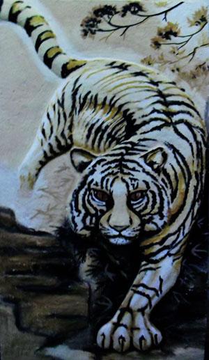 Gambar Harimau Hitam Putih : gambar, harimau, hitam, putih, Harimau, Hitam, Putih, 300x517, Download, Wallpaper, WallpaperTip