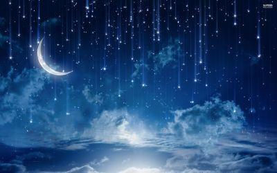 Night Sky Anime Background Night 2560x1600 Download HD Wallpaper WallpaperTip