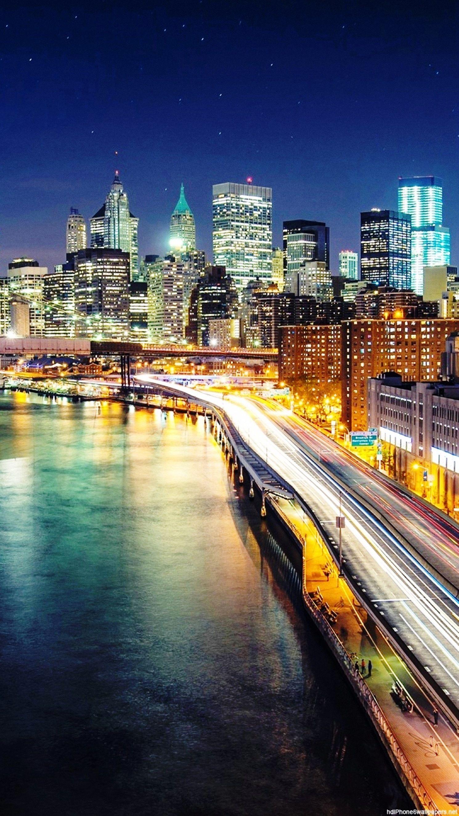 City Background Hd : background, Night, Lights, Bridge, Iphone, Wallpapers, Background, Portrait, 1490x2650, Download, Wallpaper, WallpaperTip