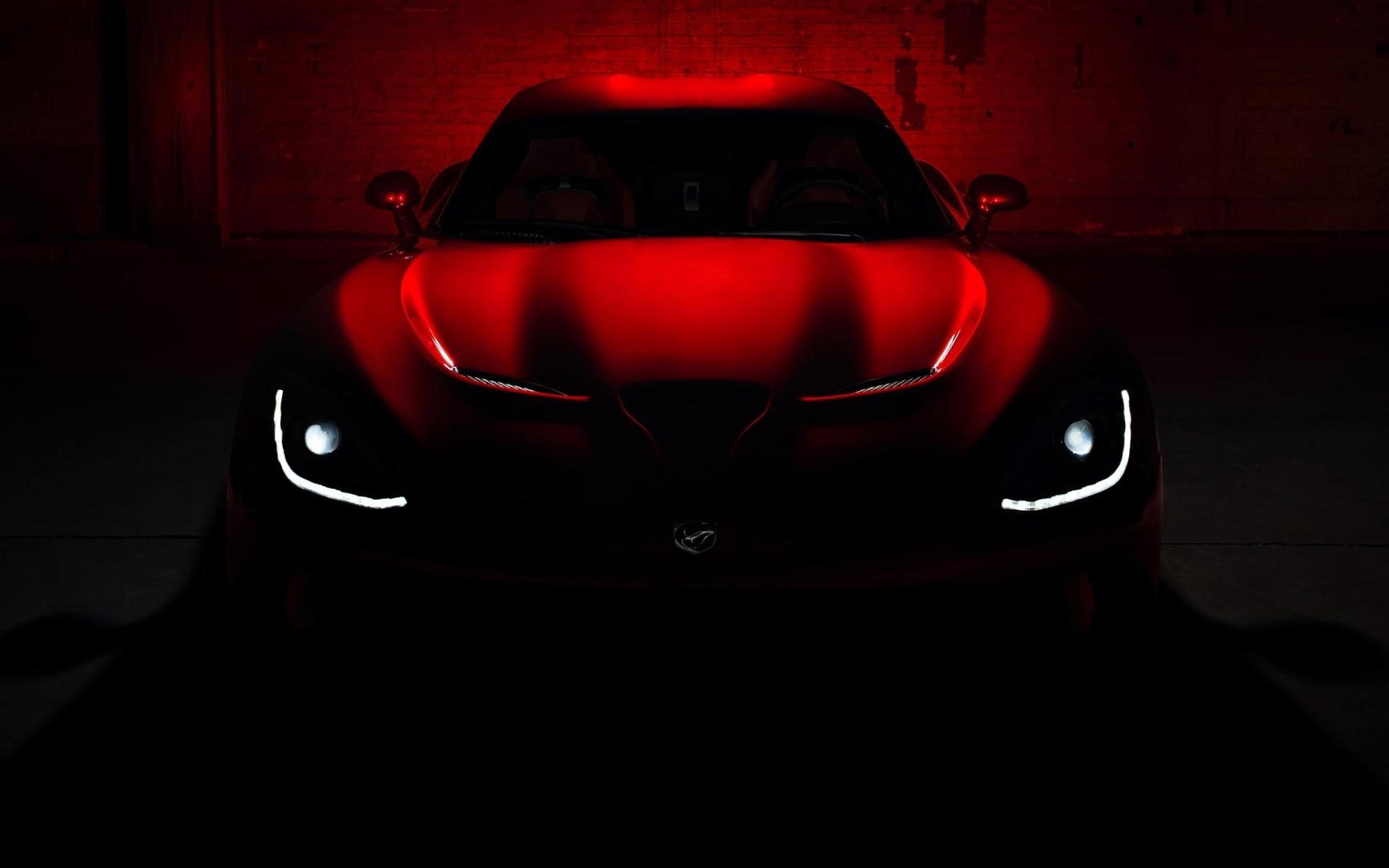Dodge Srt Viper Gts Vehicles Cars Concept Red Glow Dark