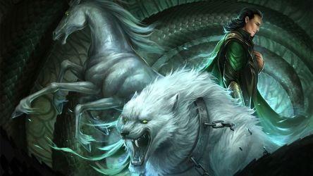 Loki's Children by sandara Asgard fantasy books animals horses wolves art men magic monster wallpaper 1920x1080 29749 WallpaperUP