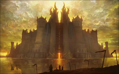 Magic The Gathering Drawing Castle fantasy wallpaper 2560x1600 117332 WallpaperUP