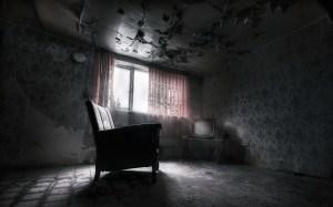 dark interior furniture ruins wallpaperup
