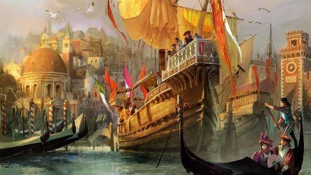 medieval fantasy ships artwork wallpapers wallpaperup