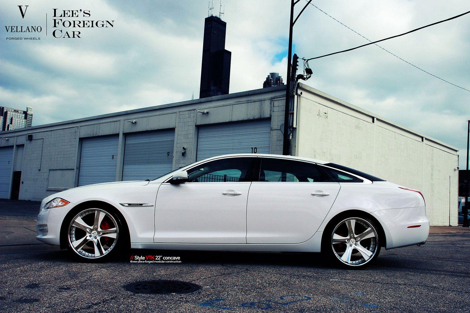 Jaguar Xjl White Vellano Wheels Tuning Cars Wallpaper
