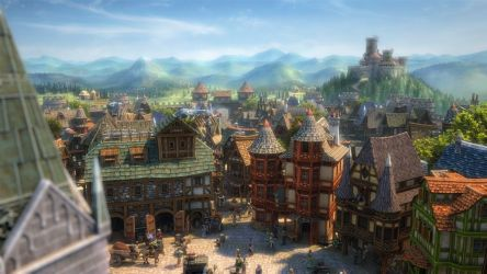 SETTLERS ONLINE city building strategy fantasy adventure rts mmo empire 1tso town village rustic detail wallpaper 1920x1080 638507 WallpaperUP