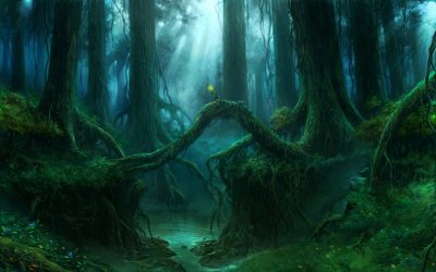 forest fantasy magical tree landscape artwork nature wallpapers