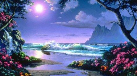 scenery nature landscape fantasy artwork wallpapers wallpaperup views