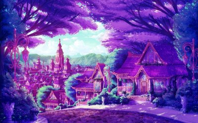anime fantasy cities artwork wallpaperup wallpapers