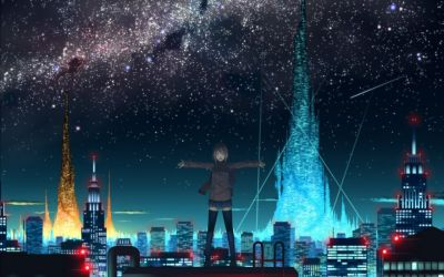 anime cities artwork wallpaperup