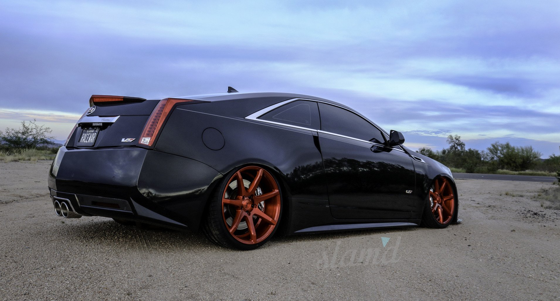 2012 Cadillac Ctsv Coupe Tuning Custom Lowrider Wallpaper