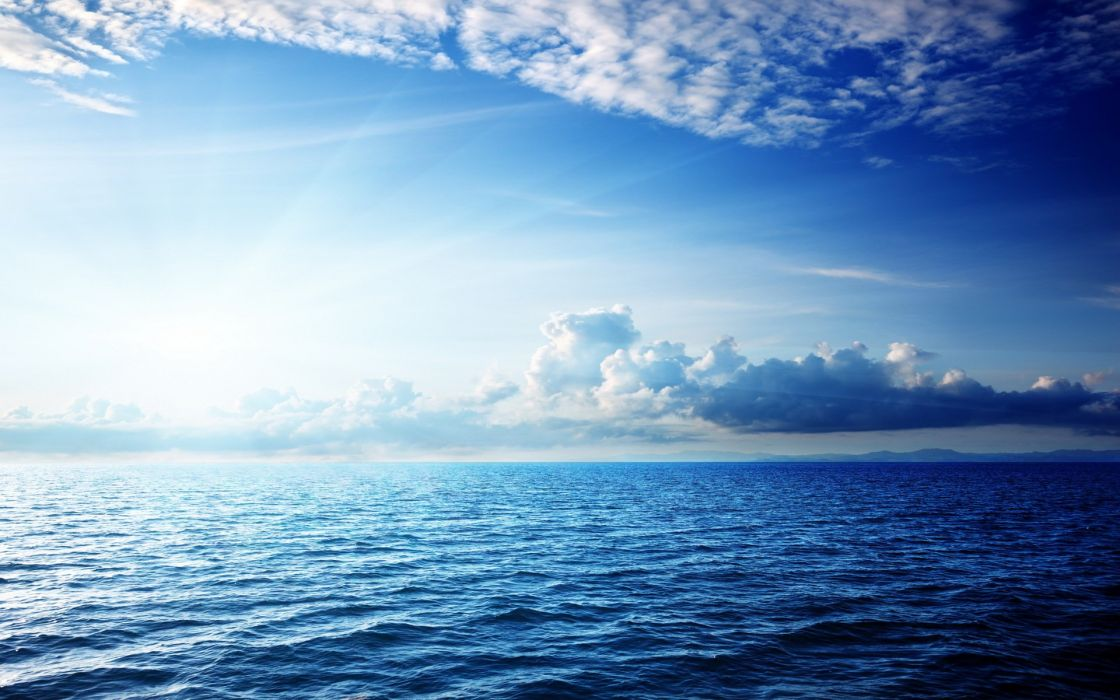 Beautiful Blue Sky Hd Landscape Sea Sunshine Wallpaper