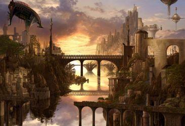 Fantasy city cities art artistic building wallpaper 1920x1310 1102659 WallpaperUP