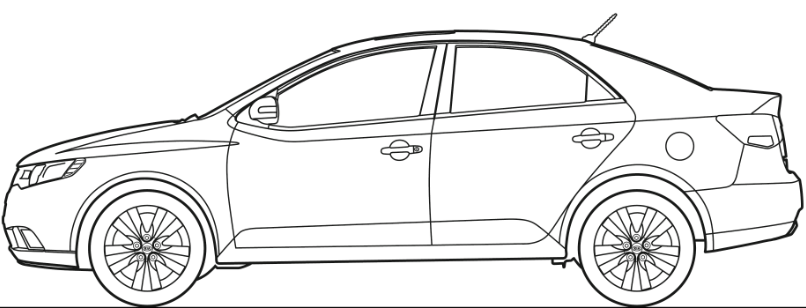 Kia Sorento Coloring Pages Sketch Coloring Page