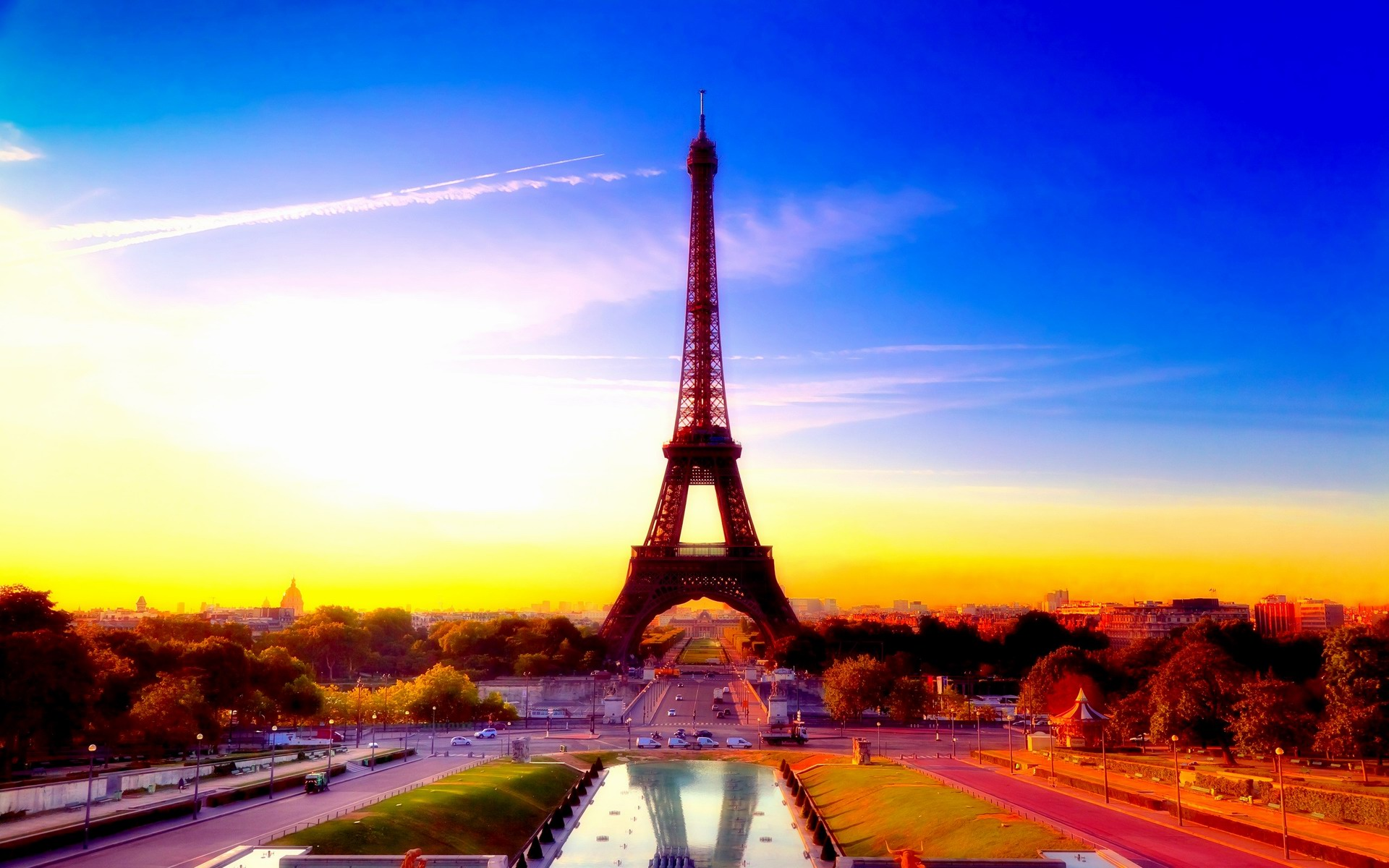 City of paris france eiffel tower for Parigi wallpaper