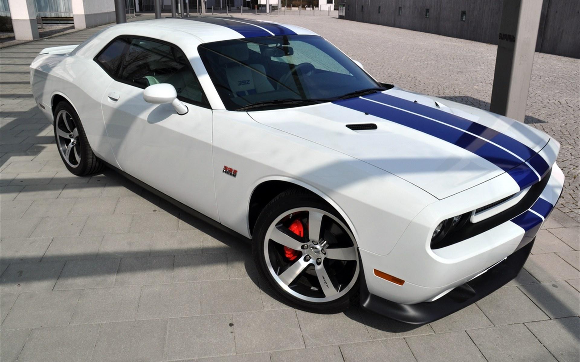 White Dodge Challenger Wallpaper