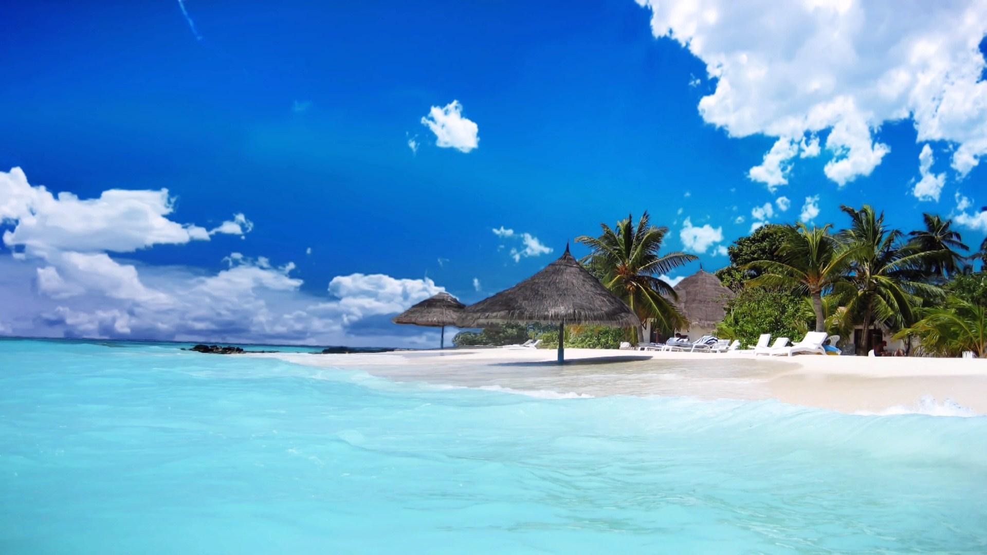 10 Top Sunny Beach Wallpaper Hd Full Hd 1920 1080 For Pc: HD Landscape Beach HD Wallpaper