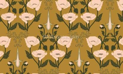 Nouveau Anemone Wallpaper Wallsauce US