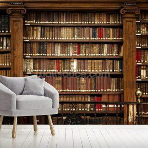library mural books wallsauce murals stunning nz ceiling living install
