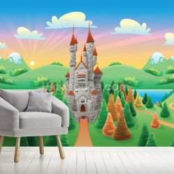 castle medieval mural murals wall wallsauce install delivery room