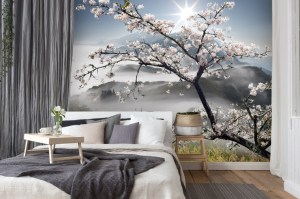 japan blossom cherry japanese wall mural murals interior bedroom japandi trend tree wallsauce palette bedrooms wallpapers soft feminine earthy yet
