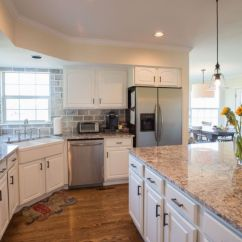 Kitchen Cabinets White Silver Painting Denver Paint Contractor In