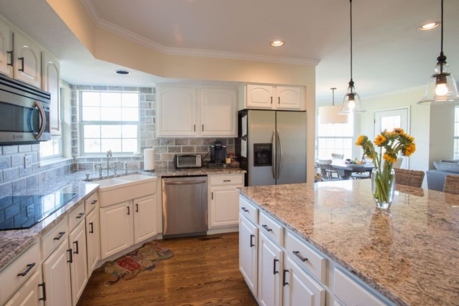 Painting Kitchen Cabinets White - Walls By Design
