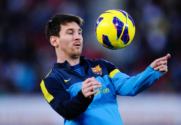 Photo Lionel Messi When He Is Training In Club