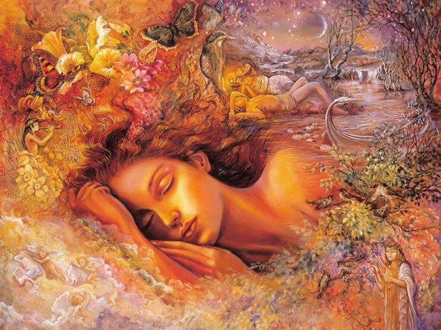 Sleep Beauty Angel Wall Art Paintings For PC Computer